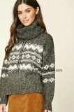 Одежды свитера втулки шеи черепахи способа женщин OEM длинние (W18-346)