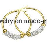Orecchino di doratura elettrolitica delle donne di modo dei monili di Shineme (ERS7012)