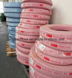 Boyau en caoutchouc flexible de pétrole de boyau hydraulique tressé de fil d'acier