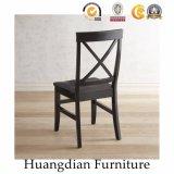 Madera sólida del estilo del negro de los muebles americanos del restaurante que cena la silla (HD464)