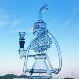 Bunter 14 Zoll Inline-KLEKS Ölplattform-Großhandelsrecycler-rauchendes Wasser-Glasrohr