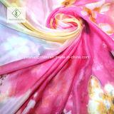 De grote Manier van het Strand van de Grootte Zonnescherm Afgedrukte Dame Silk Scarves