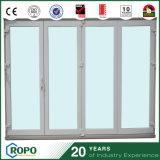 Puertas deslizantes exteriores del PVC de la puerta de plegamiento del BI del impacto UPVC del huracán