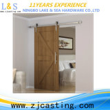 Traitement de porte en verre de traitement de porte d'acier inoxydable
