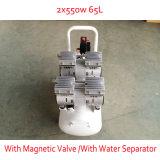 2X550W 65L mit doppeltem Druckanzeiger-magnetischem Ventil Oilless Luftverdichter
