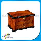 Contenitore impaccante di alto di lucentezza regalo di legno su ordinazione dei monili