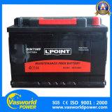 DIN Standerd al por mayor de 12V 75Ah baterías selladas de baterías para automóviles Mf bus troncal
