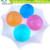 Forma de la perla púrpura suave grande cristalina del fango del suelo niños de juguete Grow bolas de agua de la planta Cultivar la decoración del hogar