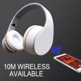 Witte Koele Draadloze Stereo Handsfree Hoofdtelefoon Bluetooth