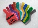 Tag de orelha com o Tag de orelha animal do Pin TPU do plástico para o gado no amarelo