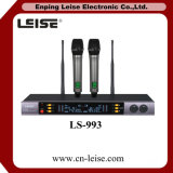 Ls993デュアルチャネルのカラオケUHFの無線電信のマイクロフォン