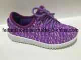 Les chaussures d'injection de toile de marque d'OEM, beau modèle folâtre les chaussures de chaussures (FFCS111903)