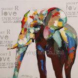 Картина животного сала холстины для слона