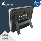 Despertador controlado de rádio do indicador de cor com indicador da estação de tempo