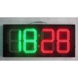 10 pulgadas del LED de reloj del tiempo de la fecha de la temperatura de la muestra del rojo 10 de muestra expresa grande al aire libre de la pulgada 4digit