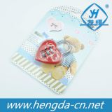 Lucchetto sveglio Yh1245 in una figura del cuore per il contenitore gioiello/di diario/Hangbag
