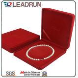 Caixa de presente universal da embalagem da colar de couro da jóia da caixa de armazenamento da jóia de veludo (YSD89)