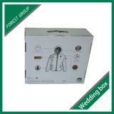 Изготовленный на заказ причудливый коробка белой бумаги для паковать одежд