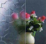 Vidro modelado temperado para decoração de portas
