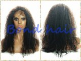 흑인 여성을%s 비꼬인 꼬부라진 가득 차있는 레이스 가발 또는 레이스 정면 가발