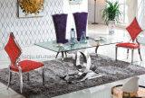 Disegno speciale della mobilia domestica di modo che pranza Tabella di vetro (A6085)