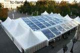 Крыша PVC белизны шатра 25X60m партии смешивания стеклянная с украшением подкладки Vvip
