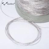 Fibra de plata que cose la cuerda de rosca conducente