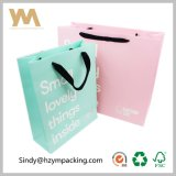 Оптовая продажа мешка изготовленный на заказ одежды белой бумаги младенца розовая упаковывая