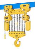 Grua elétrica de 25 toneladas com trole elétrico