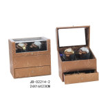 Doble Cuero de la PU Watch Winder