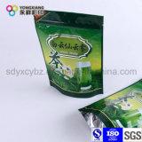 Подгонянный раговорного жанра мешок пластичный упаковывать алюминиевой фольги с Ziplock для зеленого чая