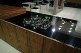 Ritzの米国式の家具のホームラッカー黒の食器棚
