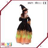 Vestito da partito magico di festa della ragazza di Halloween della strega della fase del costume classico di prestazione