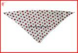Bandana personalizado OEM do animal de estimação do cão do Bandana da impressão da tela de seda do triângulo (YH-HS137)