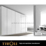 Het brede Witte Kabinet van de Garderobe met het Ontwerp tivo-0042hw van de Spiegel