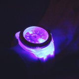 Reloj del cuarzo de Ginebra del diamante del LED