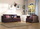 Sofà con il sofà di cuoio italiano impostato per mobilia domestica, sofà moderno della mobilia del salone