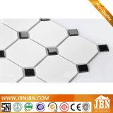 Mosaico de cerámica blanco y negro para la pared y el piso del cuarto de baño (C655143)