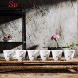 Cuvette de thé en céramique de Kung Fu de lotus fabriqué à la main de haute qualité de couleur