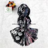 Neue Form-Dame Scarf mit Ahornblatt gedrucktem Schal