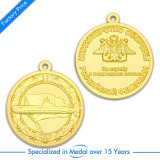 Изготовленный на заказ медаль спорта пожалования золота сувенира эмали школы