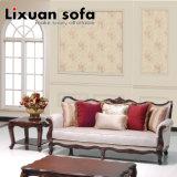 Tecido de madeira Sofá amor Cadeira de assento clássico e antigo Set Tabela Couch Classical para sala