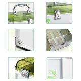 Persönlicher quadratischer Medizin-Aluminiumablagekasten mit Griff und Verschluss