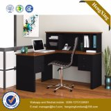 L Shape Small Size Bookshelf Ordinateur d'ordinateur PC pour ordinateur de bureau (HX-FCD016)