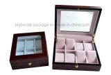 Personifizierter Marken-große Glasspitzenbildschirmanzeige-hölzerner Uhr-Kasten