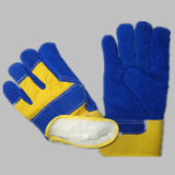 Blue Cow Split Leather Palm Acrylique Doublure Winter Glove-3085