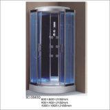 Cabine simples do quarto de chuveiro