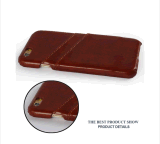 Telefon-Kasten-rückseitiges Leder-Kasten für iPhone