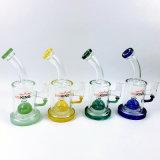 Hbking 10inch 5mm Stärken-klassische Becher-Unterseiten-bunte Glasfilterglocke-Glaswasser-Rohr-rauchende Wasser-Rohr-Glaspfeife mit Eis-Klemmen