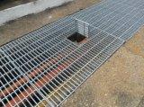 Reja de acero galvanizada de la zanja de la INMERSIÓN caliente para la cubierta del foso